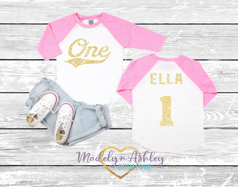 Girls First Birthday Shirt Girl