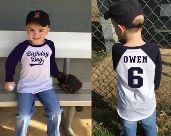 Birthday Shirt-Birthday Shirt Boy-Birthday Shirt Boy 1-Birthday Shirts for Family-Birthday Shirt Toddler-Navy Blue Raglan Shirt Birthday Boy