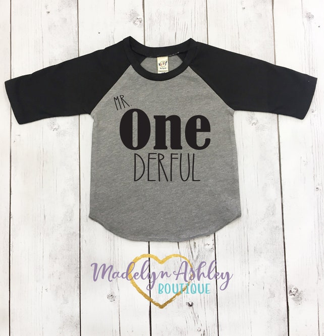 Mr Onederful Birthday Shirt First Boys Tee