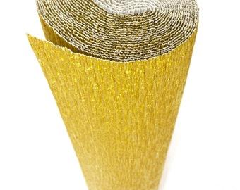 Italian Crepe Paper roll 180 gram  -  801 METALLISED GOLD
