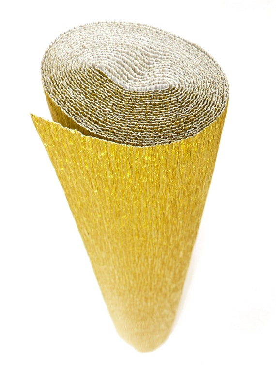 801 Metallised GOLD Italian Crepe Paper roll 180 gram