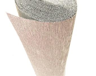 Italian Crepe Paper roll 180 gram  -  802 METALLIC SILVER