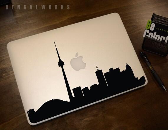 Toronto Skyline Macbook Decal 1 Macbook Sticker Laptop Decal Laptop Sticker Car Sticker
