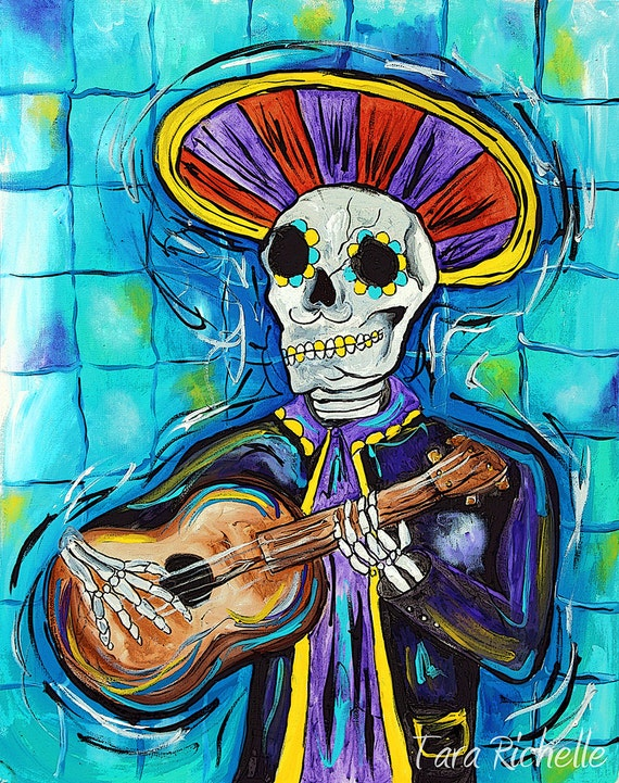 Skeleton guitar bone guitar mariachi guitar mexican music | Etsy