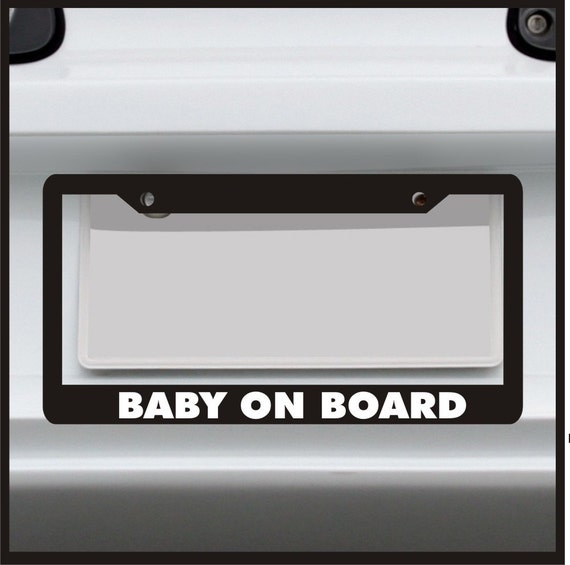 Baby on Board License Plate Frame Funny Custom | Etsy