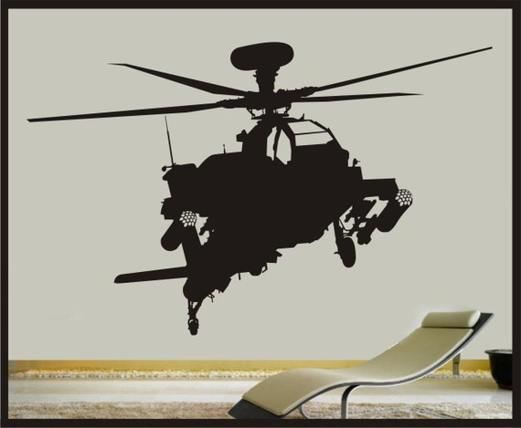 Blackhawk Helicopter Aircraft Army Wall Art Stickers Mural Kids Room Home AH8