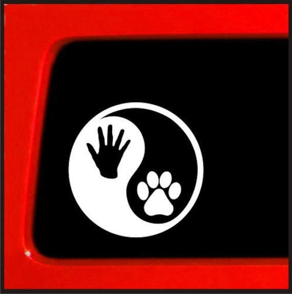 Truck SUV Car Window Bumper Laptop Decals Dog Paw Print Sticker Decor jian
