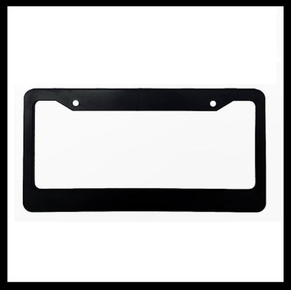 Black Metal License Plate Frame Tag Holder The Closer You Get The Slower I Go