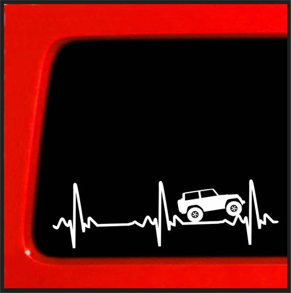 herzschlag ekg f r jeep wrangler sticker aufkleber f r. Black Bedroom Furniture Sets. Home Design Ideas