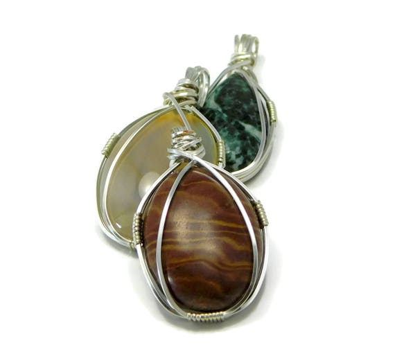 Instant download simple wire wrapped cabochon pendant wire etsy image 0 aloadofball Choice Image