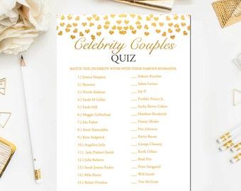 gold bridal shower games celebrity couples quiz bridal shower game printable celebrity couples game instant download br23