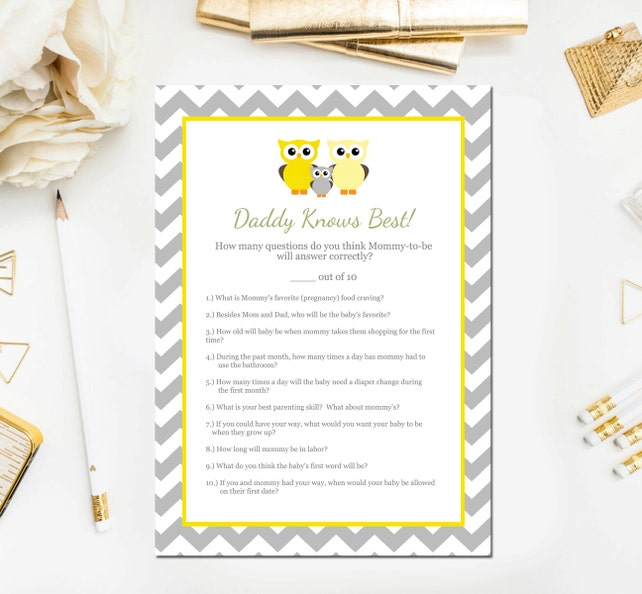 Late Night Diapers Game Sign Purple Owl Printable Baby Shower Decor