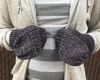 Convertible Mitten, Mens Knit Gloves, Convertible Gloves, Men's Fingerless Gloves, Fingerless Wool Gloves    Friedrich Convertible Gloves