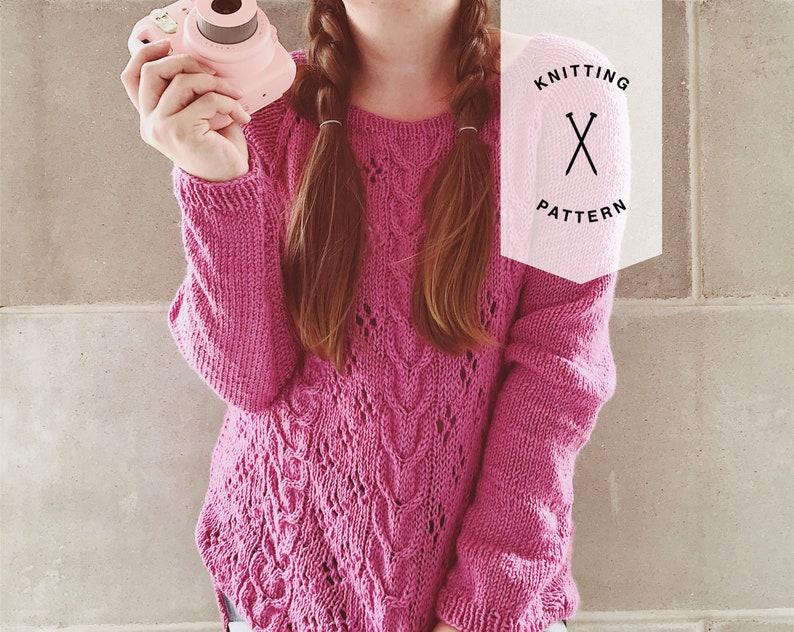 aabc06b40621 Cable Knit Sweater Knit Sweater Pattern Knitting Pattern
