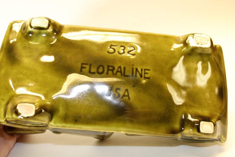 Vintage McCoy Floraline Ceramic Car Planter