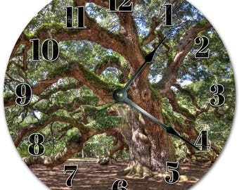 SOUTH CAROLINA CRESCENT AND PALMETTO TREE CLOCK Large 10.5 inch Wall Clock 2175