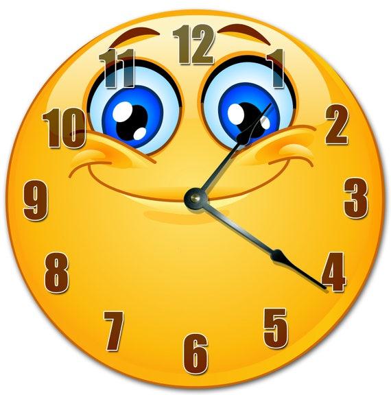 10.5 souriant EMOJI horloge Living Room 10.5 | Etsy