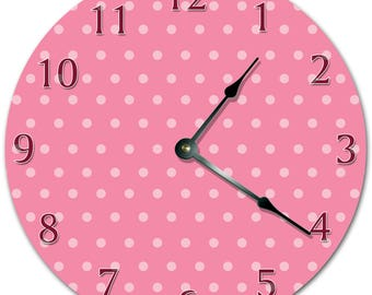 "10.5"" SMALL DOTS ART Design Clock - Living Room Clock - Large 10.5"" Wall Clock - Home Décor Clock - 5710"