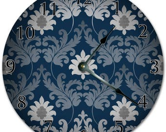 "10.5"" ARTISTIC FLORAL DESIGN Clock - Living Room Clock - Large 10.5"" Wall Clock - Home Décor Clock - 5936"