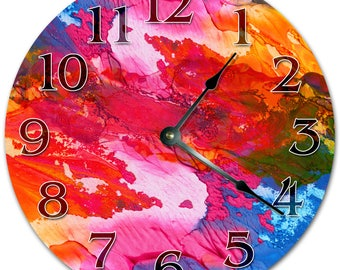 "10.5"" COLOR MIXTURE Clock - Living Room Clock - Large 10.5"" Wall Clock - Home Décor Clock - 5036"