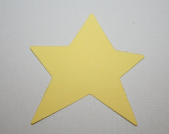 Large Yellow Star Die Cuts lot of 12 for Scrapbooking