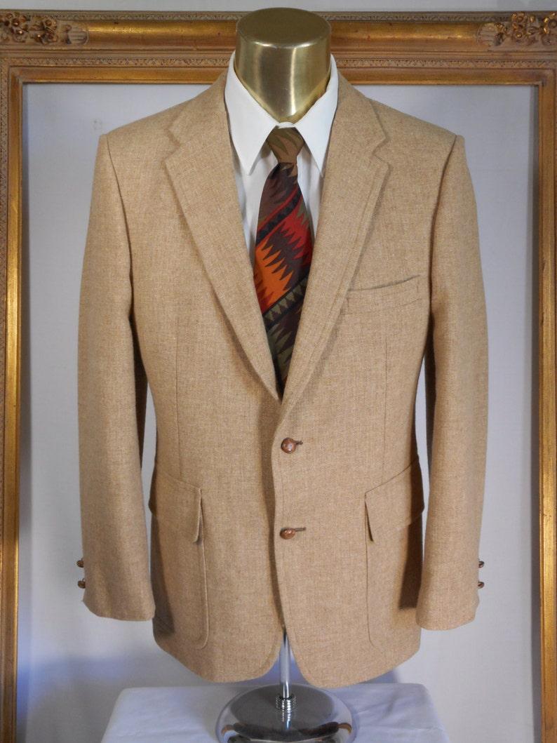 Size 40 Vintage 1960/'s Barrister Camel Sport Coat