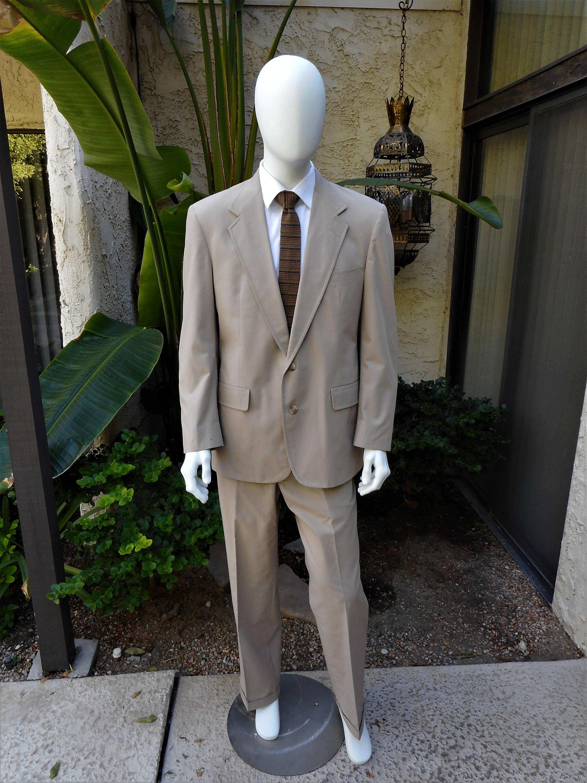 Jahrgang 1980 Saks Fifth Avenue beige Popeline Anzug Größe | Etsy