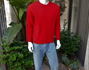 Vintage 1970's White Stag Red Crew Neck Pullover Sweater - Size Medium