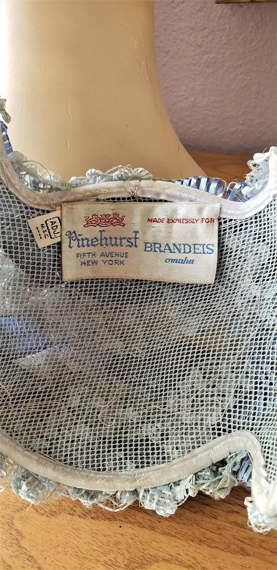 Vintage 1950's Pinehurst Brandeis Periwinkle Blue… - image 6