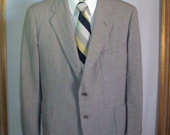 Vintage 1951 Richman Brothers Grey Tropical Worsted Wool Jacket - Size 42