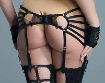5c4a455db Strappy Black Garter Belt - Black Garter Belt Lingerie