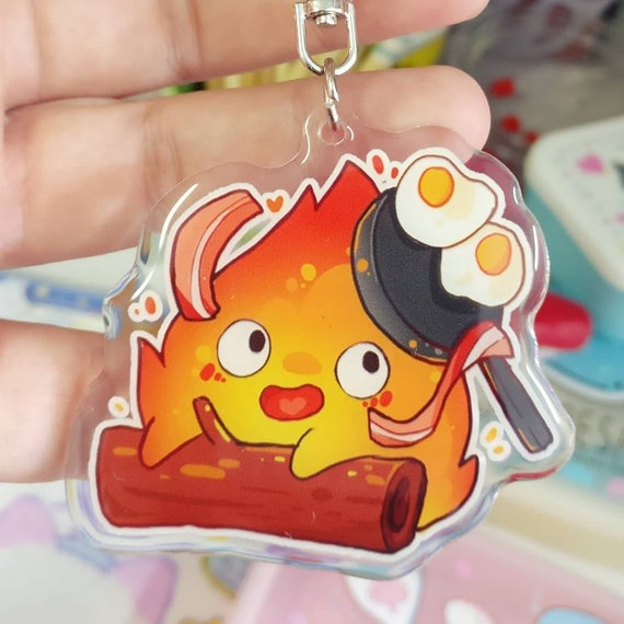 HOWL/'S MOVING CASTLE KEYRING HANDBAG CHARM CALCIFER FIRE DEMON JAPANESE ANIME
