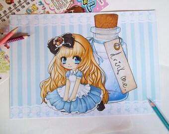 Alice in wonderland - A4 print