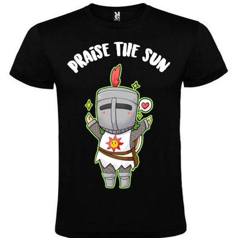 1dc7e50ee Praise the sun Solaire dark souls t-shirt | Etsy