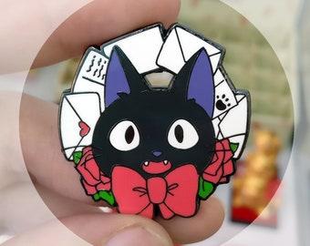 Jiji hard enamel pin - ghibli Kiki's delivery service inspired