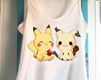 Pokemon Mimikyu and Pikachu - Tank Top Sleeveless t-shirt