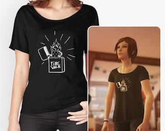 """Chloe Price """" fire walk """" - Life is Strange before the storm top cosplay t-shirt"""