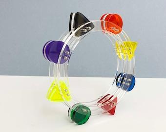 Ferris Wheel Jewelry. Architectural Perspex Bracelet. Luna Park Bracelet. Retrofuture Design. Plexi Shock