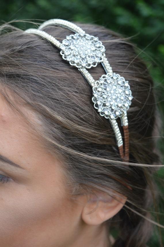 0864d0db86 Rhinestone Diamante headband. Wedding headpiece