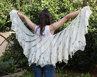 Shawl patterns Shawl Wrap Pattern Woman's Shawl Bridal Wrap Pattern  Cozy Wrap Boho Wrap Shawl Soft Shawl Written Pattern Knitted Shawl