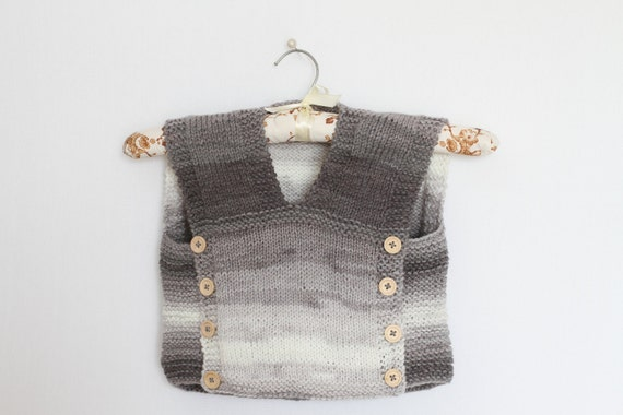 Baby Sweater Vest Knitting Pattern Pdf Easy Baby Vests Etsy