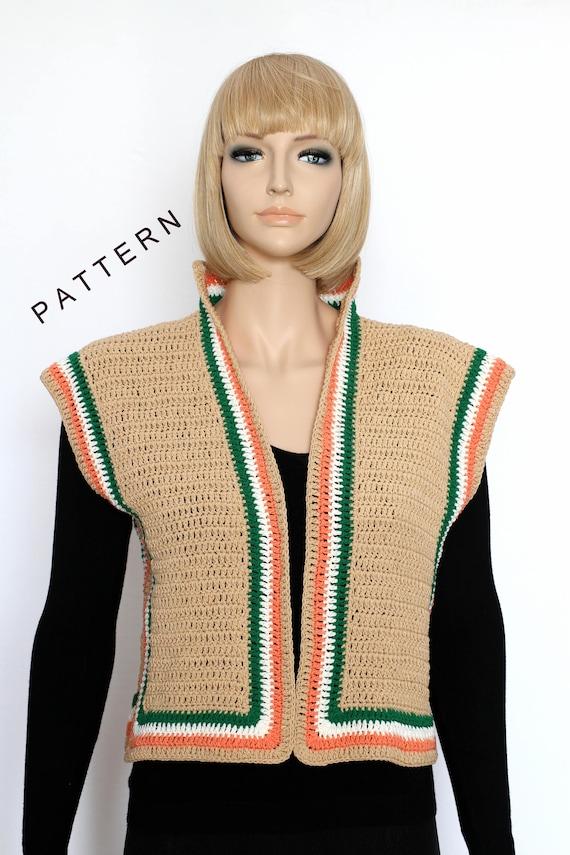 Women Vest Pattern Crochet Bolero Shrug Pattern Pdf Vest Etsy