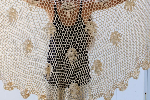 Crochet Lace Shawl Crochet Shawl Pattern Handmade Shawl Wrap Etsy