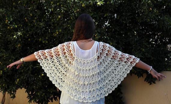 Wedding Cape Capelet Pattern Crochet Poncho Pattern Lacy Etsy