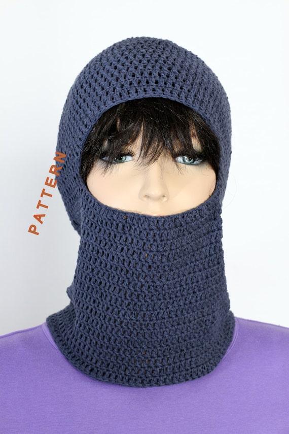 Crochet Ski Mask Pdf Pattern Hand Crochets Balaclava Pattern Etsy