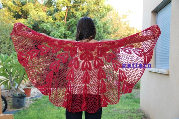Shawl Pattern Pdf Pattern Crochet Lace Shawl Tutorial Crochet Etsy