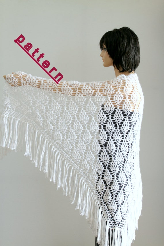 Crochet Shawl Wrap Pattern Wedding Shawl Wrap Shawls Crochet Etsy