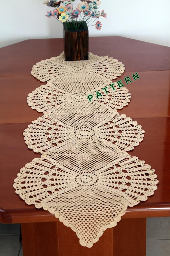 Table Runner Pattern Crochet Table Runner PDF Table Cloth Etsy Amazing Crochet Table Runner Patterns
