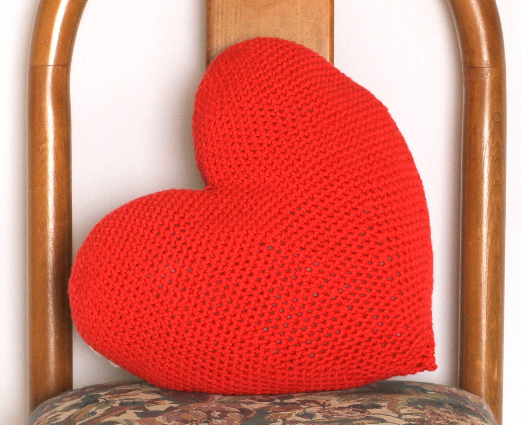 Crochet Heart Pattern Valentine Cushion Pillow Easy Crochet Etsy