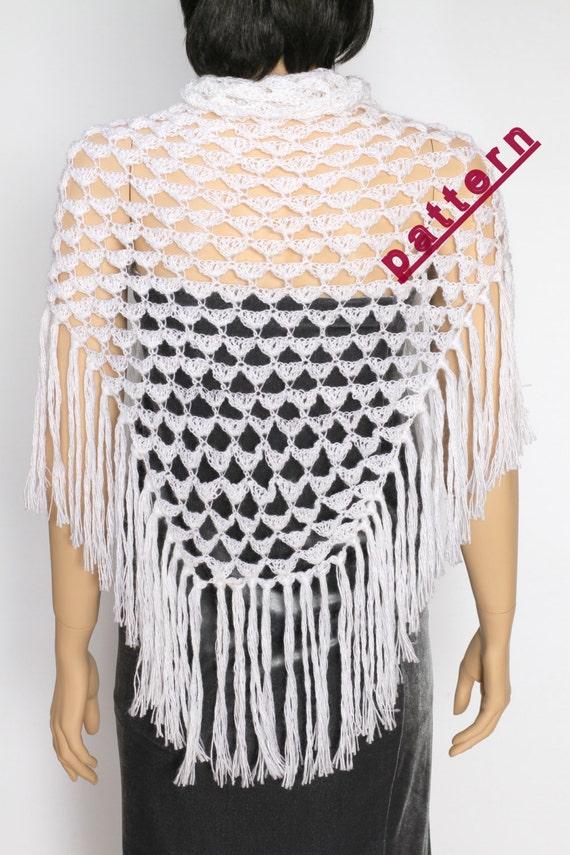 Crochet Shawl Pattern Wedding Shawl Wrap Pattern Pdf Crochet Etsy